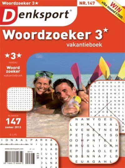 Denksport Woordzoeker vakantieboek 3 sterren aanbiedingen