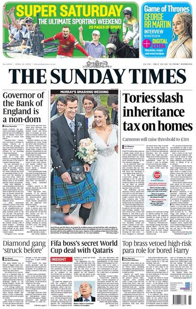 The Sunday Times  aanbiedingen