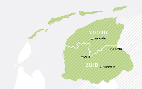Verspreidingsgebied Leeuwarder Courant